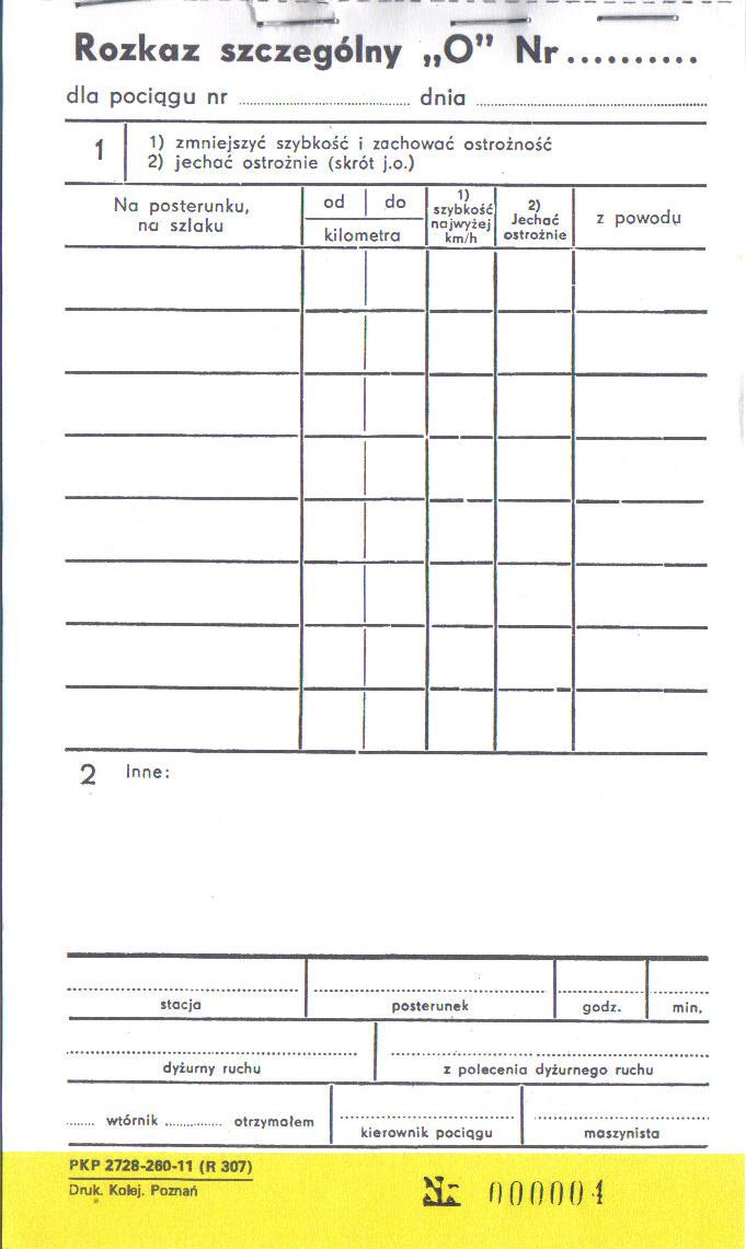 Rozkazy pisemne / szczególne